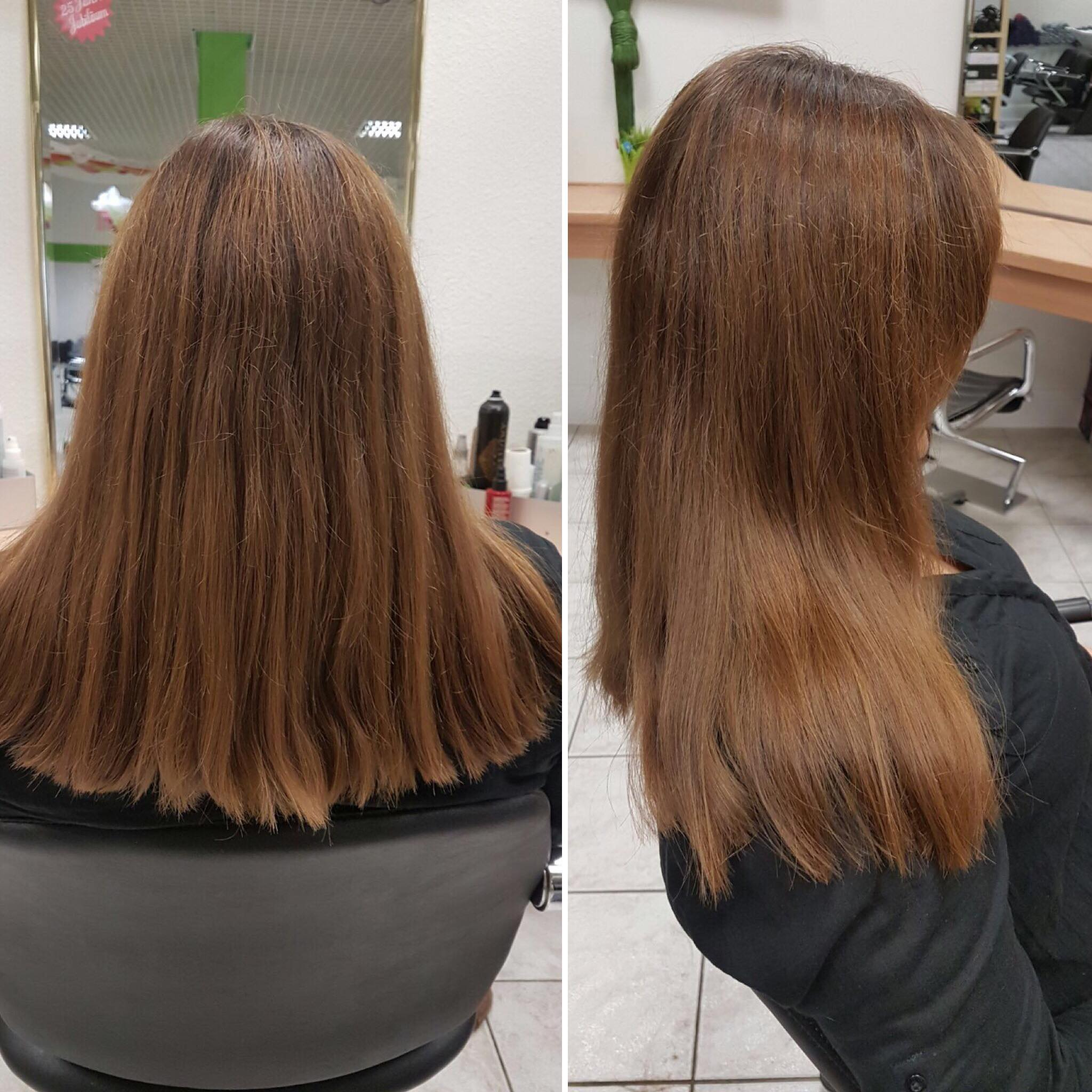 Spliss Away - Haarspliss Vorher Nachher - Friseur in Darmstadt - Sonjas Friseurladen